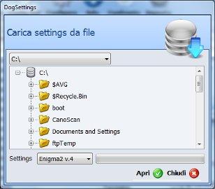 DogSettings - setting editor per Enigma2 & NeutrinoHD by Dogstrike